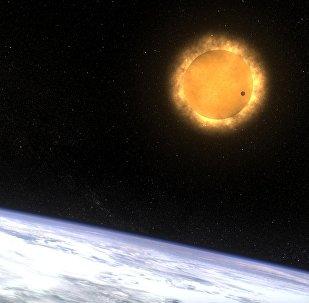 Venus termina su viaje enfrente del Sol