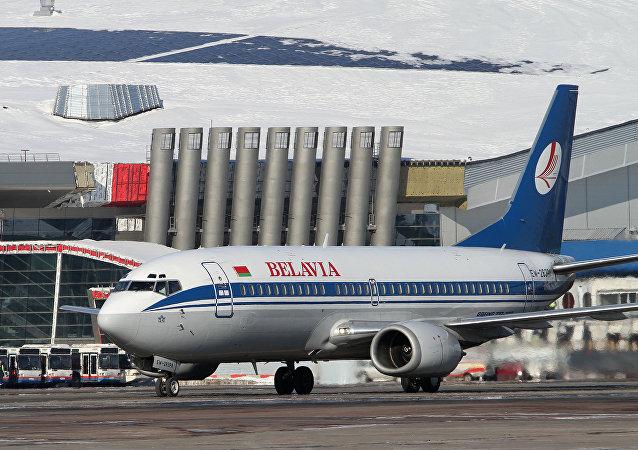 Boeing 737авиакомпании Белавиа в аэропорту Внуково