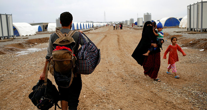 Los refugiados sirios (archivo)