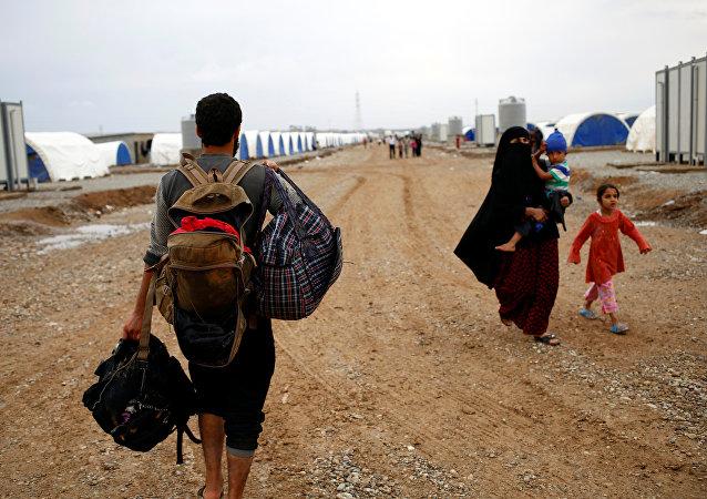 Desplazados internos de Mosul