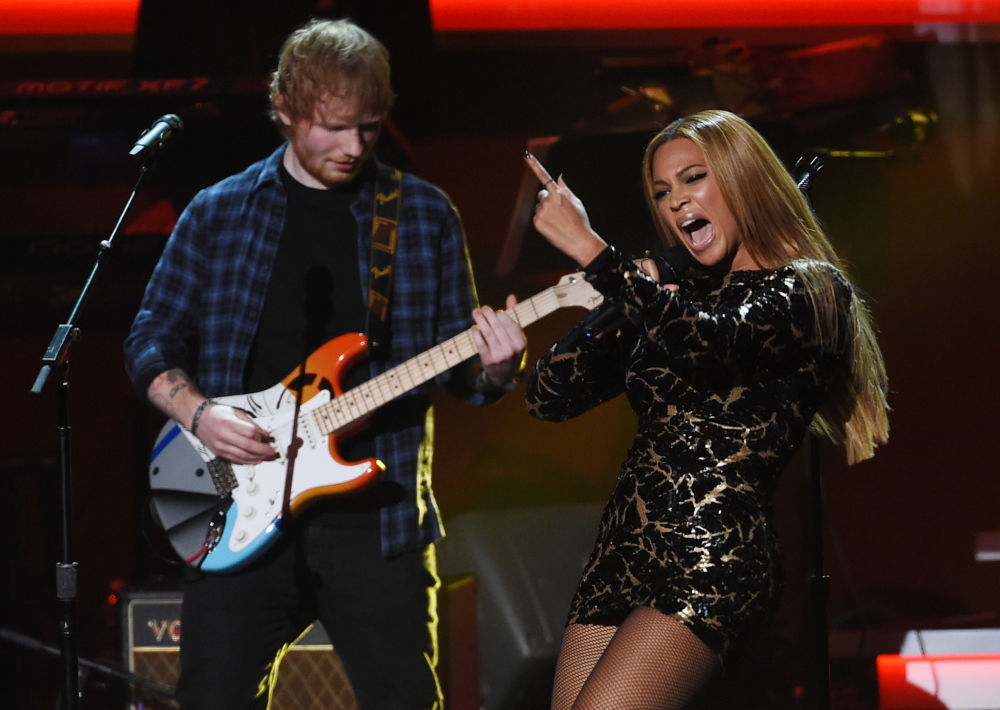 Beyoncé y Ed Sheeran participan en el evento 'Stevie Wonder: All-Star Grammy Salute' en Los Ángeles