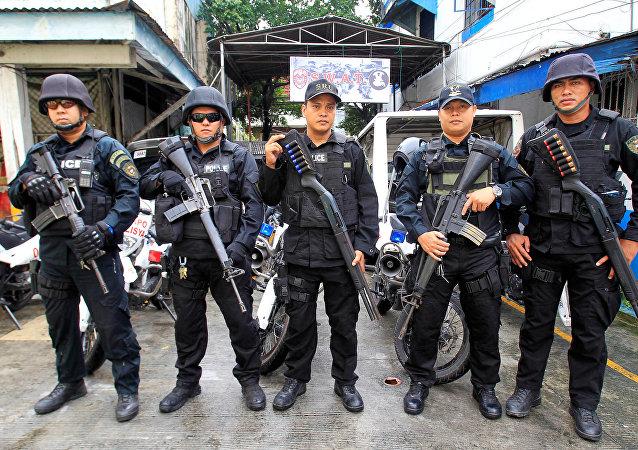 Miembros del equipo SWAT de la Policía Nacional de Filipinas (archivo)