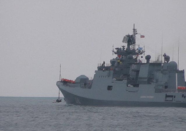 La fragata rusa Almirante Grigoróvich se dirige a Siria