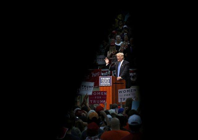 El candidato republicano, Donald Trump, durante un discurso en Carolina del Norte