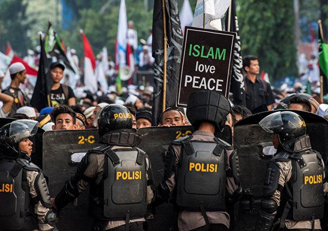 Las protestas musulmanas contra el gobernador de Yakarta