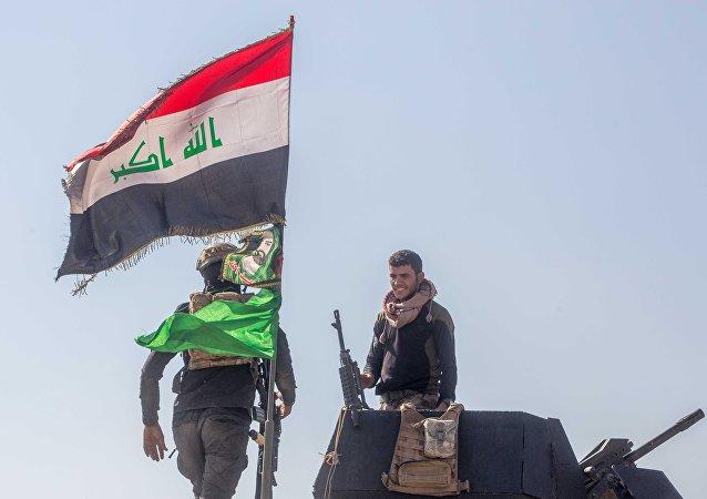 Soldados del ejército iraquí