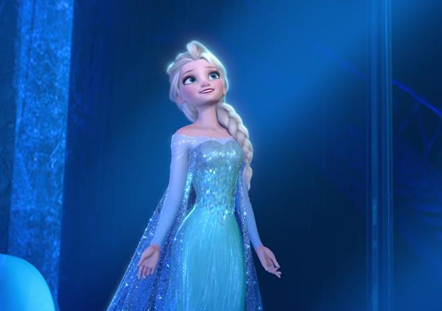 Elsa, la protagonista de la película animada Frozen