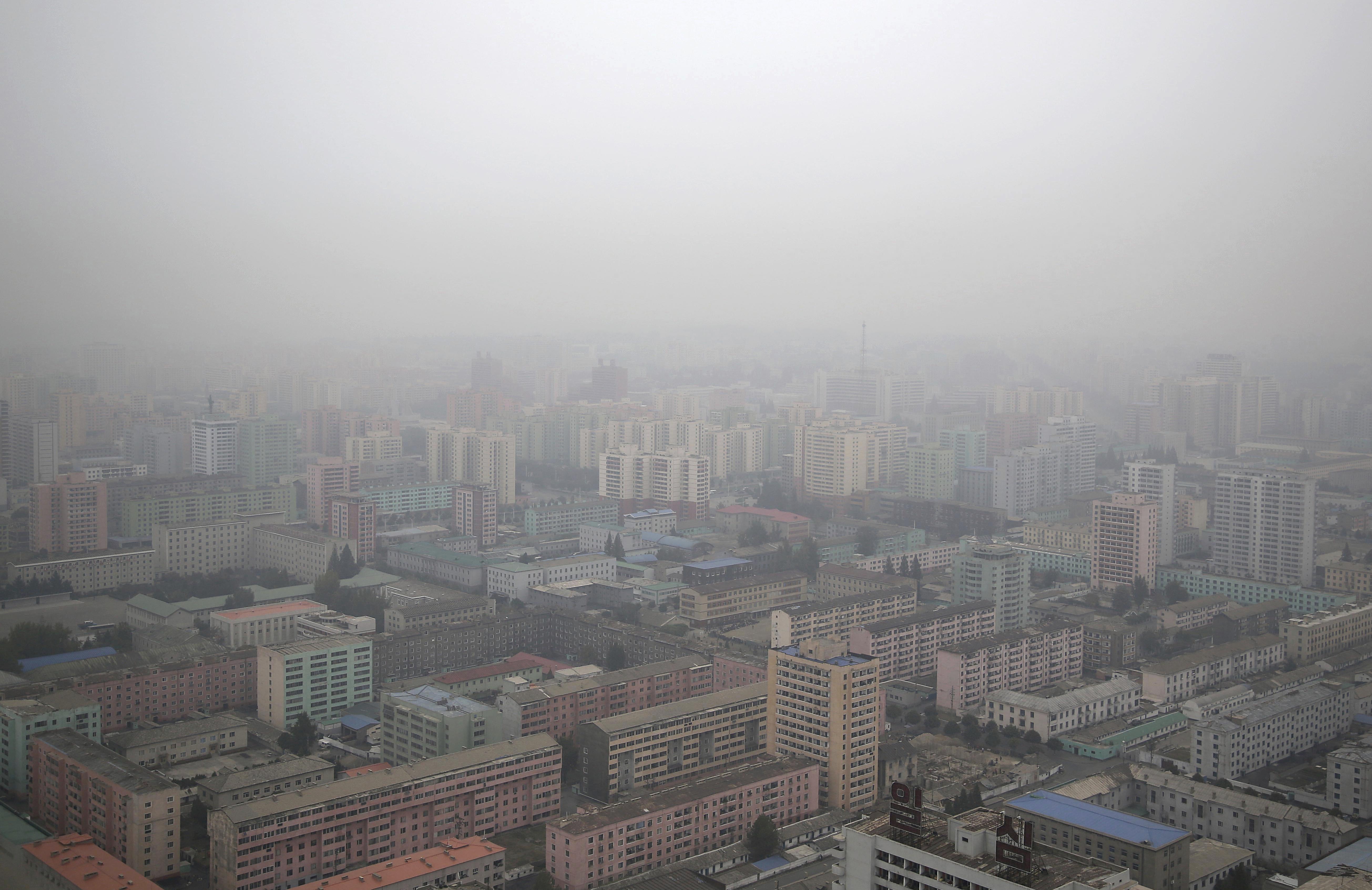 Barrio residencial de Pyongyang, Corea del Norte