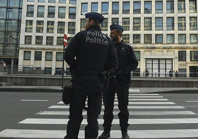 Los agentes de policía en Bruselas (archivo)