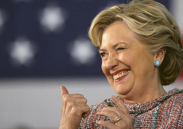 La candidata demócrata en las elecciones presidenciales de EEUU 2016, Hillary Clinton