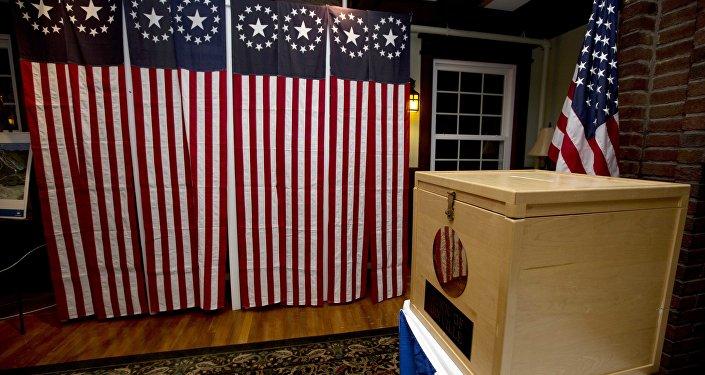 Una urna de votación en EEUU (imagen referencial)