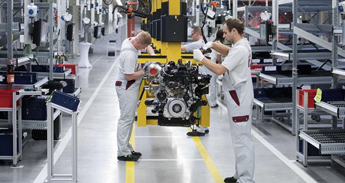 Trabajadores de Daimler AG en Alemania