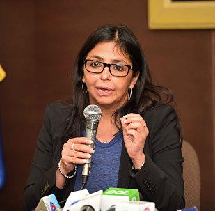 Delcy Rodríguez, presidenta de la Asamblea Nacional Constituyente de Venezuela (archivo)