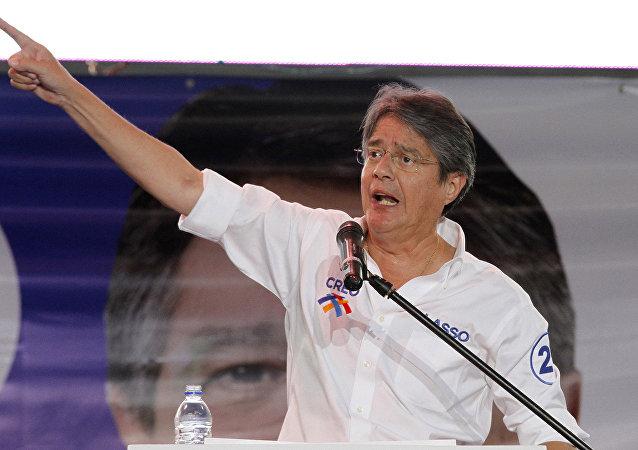 Guillermo Lasso, candidato opositor a la presidencia ecuatoriana