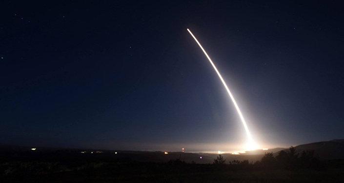 Prueba del misil balístico intercontinental Minuteman III, EEUU (archivo)