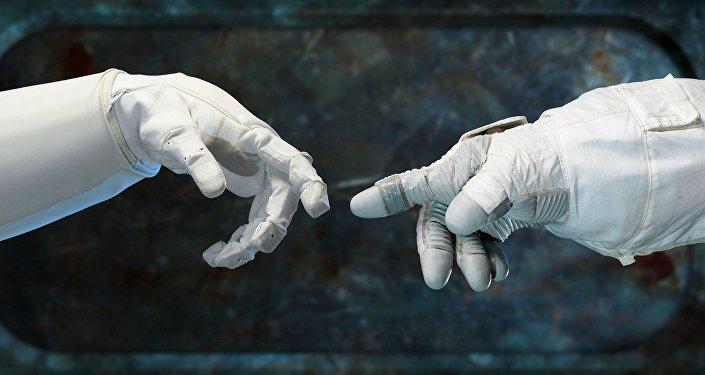 Las manos de astronautas