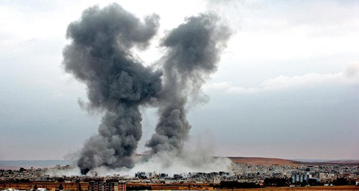 Bombardeos aéreos de la coalición liderada por EEUU en Siria (archivo)