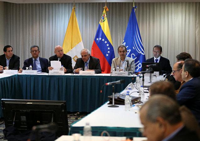 La segunda reunión de la mesa de diálogos entre el Gobierno de Venezuela y la oposición