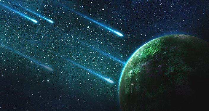 Meteoritos (ilustración)