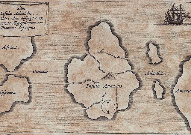 Mapa de la mítica Atlántida