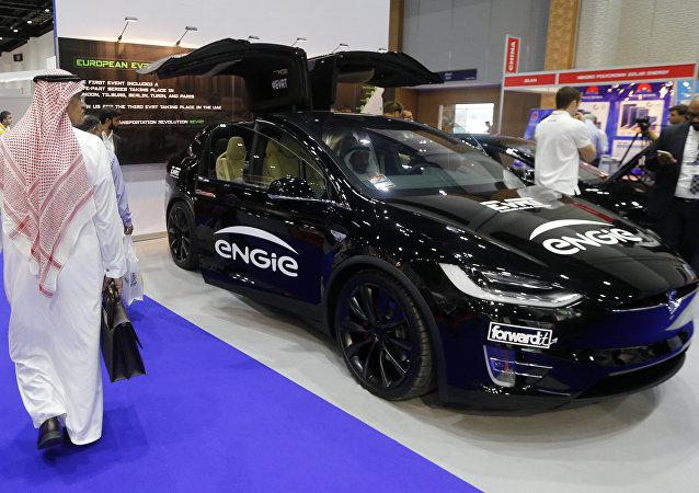 Una exhibición de coches en Dubai (archivo)