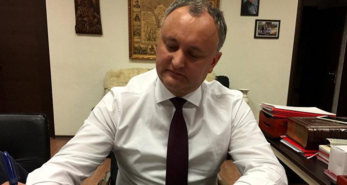 Igor Dodon, el líder del Partido de los Socialistas de Moldavia (PSRM)