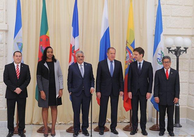 El ministro de Asuntos Exteriores de Rusia, Serguéi Lavrov, se reune con sus homólogos de los países que forman parte de CELAC