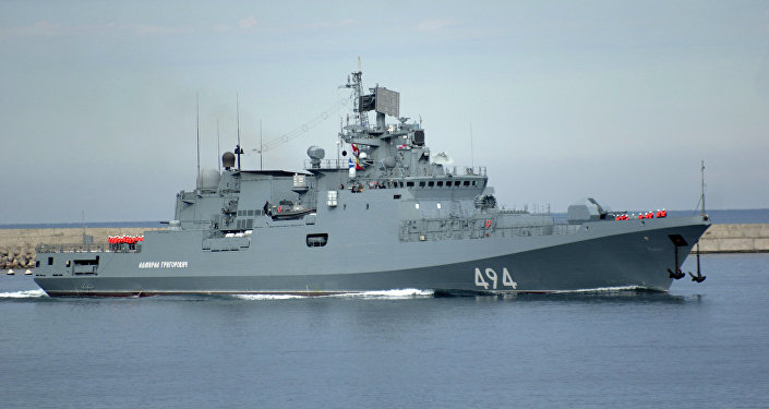 La fragata rusa Almirante Grigoróvich