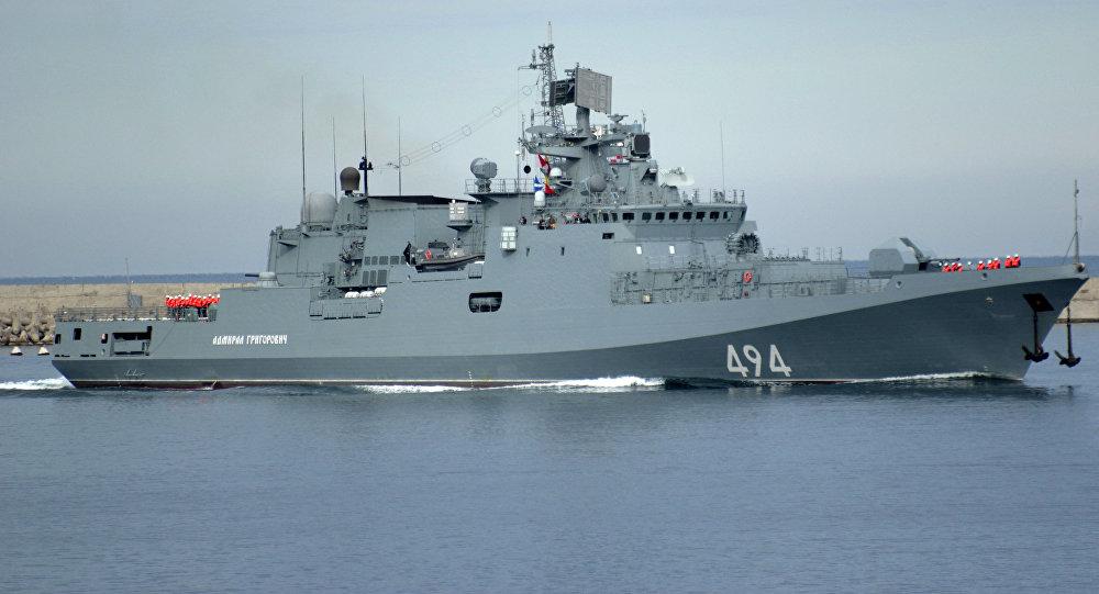 La fragata rusa Almirante Grigorovich
