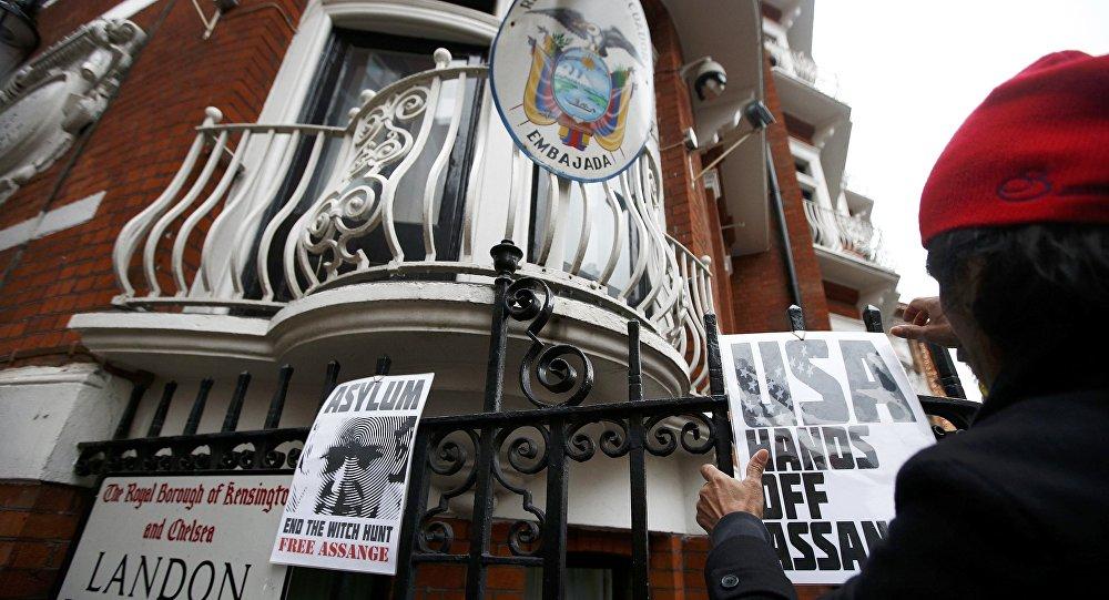 Embajada de Ecuador en Londres, el Reino Unido (archivo)