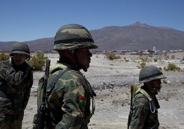Los soldados bolivianos en Sabaya