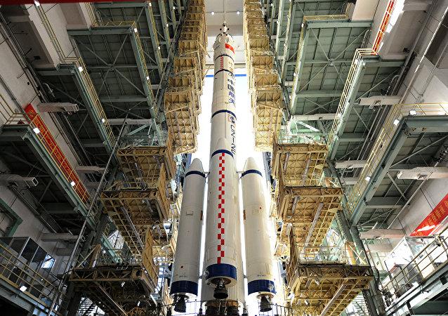 La nave espacial china Shenzhou-11
