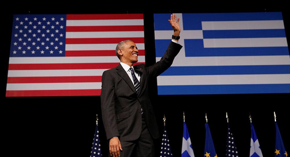 Barack Obama, el presidentede EEUU, en Grecia