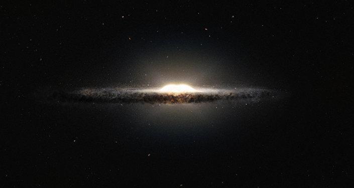 Interpretación artística del centro de la Vía Láctea