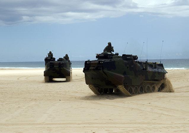 Dos carros de combate