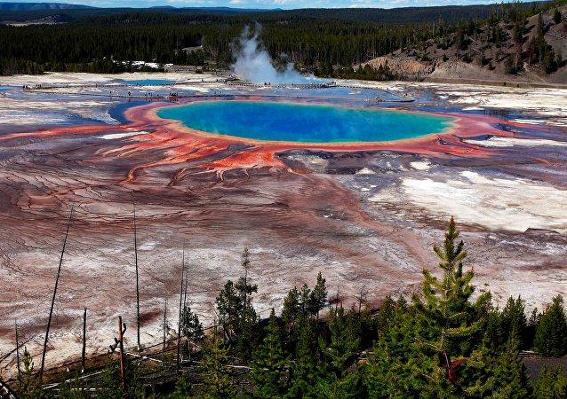 La Gran Fuente Prismática en el Parque Nacional de Yellowstone