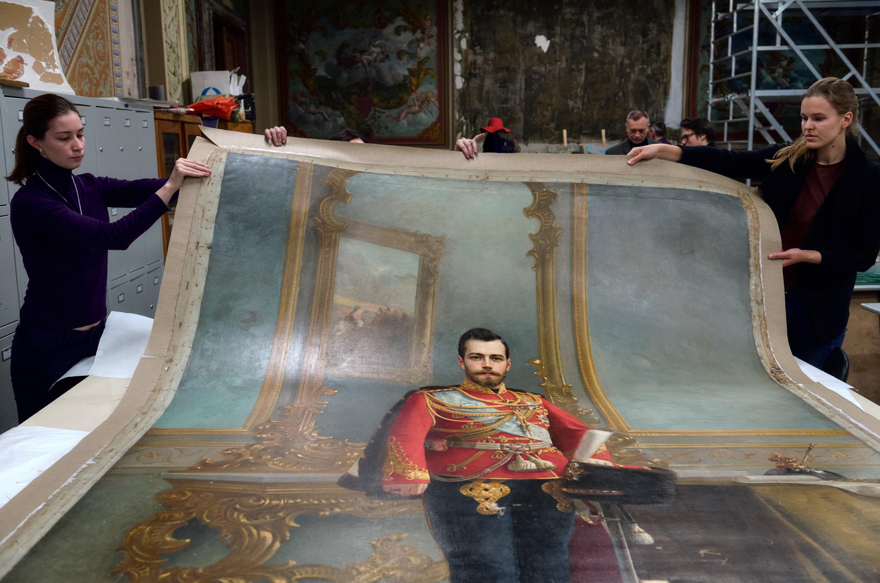El retrato de Nicolás II, obra de Iliá Galkin