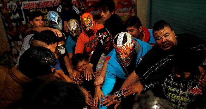 Participantes de la lucha extrema mexicana