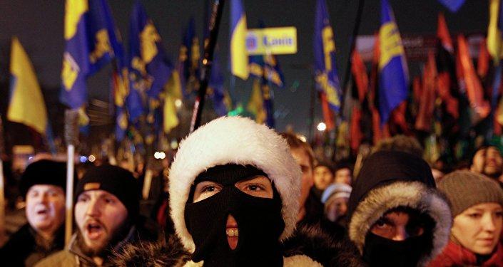 Marcha nacionalista en Ucrania (archivo)