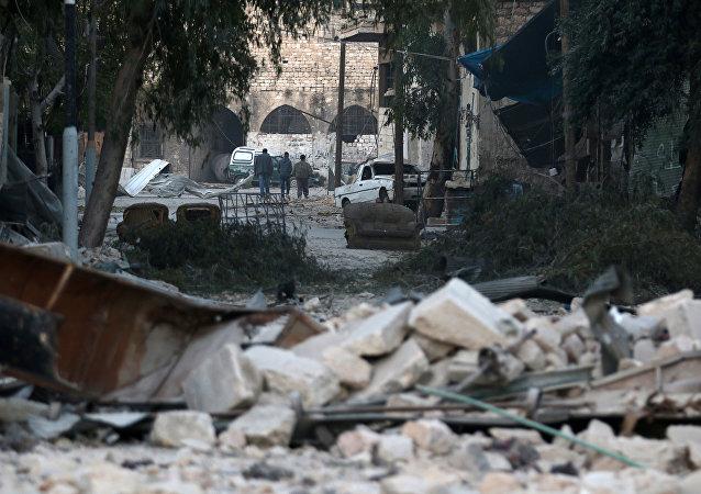 Una zona destruida por la guerra, en Alepo (Siria)