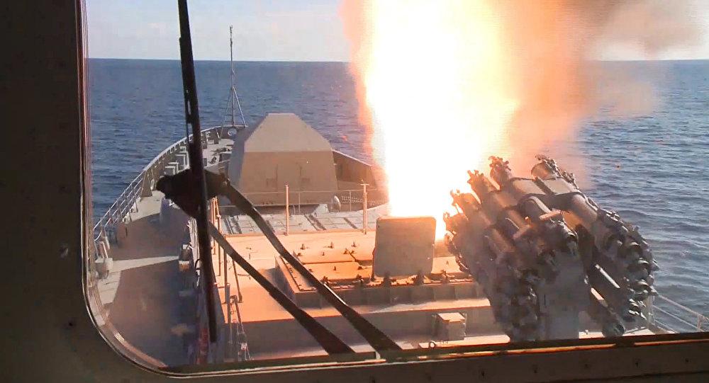 La fragata Almirante Grigoróvich por primera vez en acción en Siria