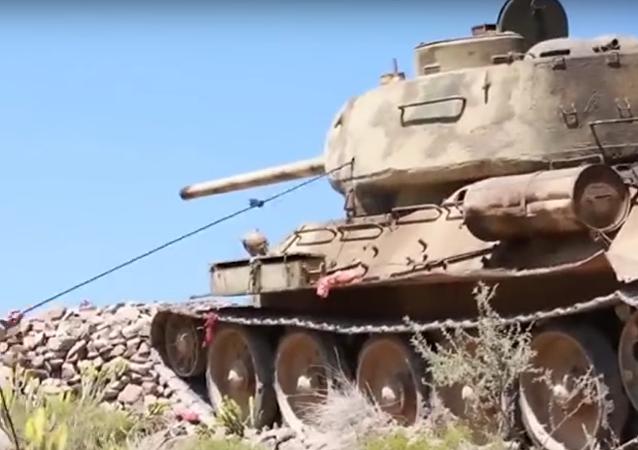 El legendario T-34 lucha en Yemen