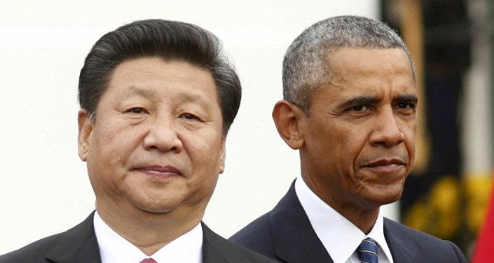 El presidente de Estados Unidos Barack Obama se encuentra con el presidente chino Xi Jinping