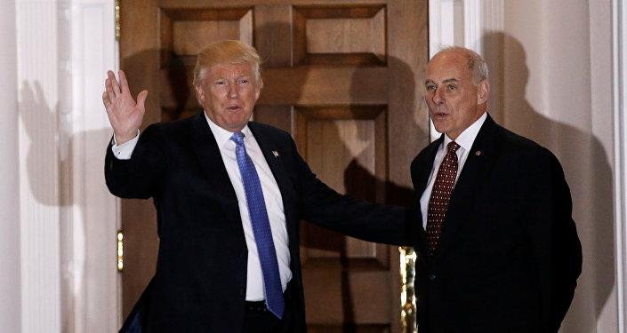 Presidente de EEUU, Donald Trump, y secretario de Seguridad Interior, John Kelly