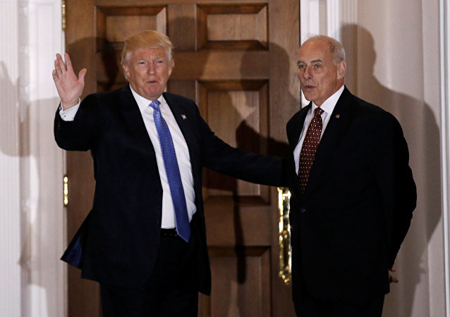 Presidente de EEUU, Donald Trump, y secretario de Seguridad Interior, John Kelly