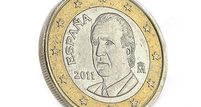 Una moneda de euro en España