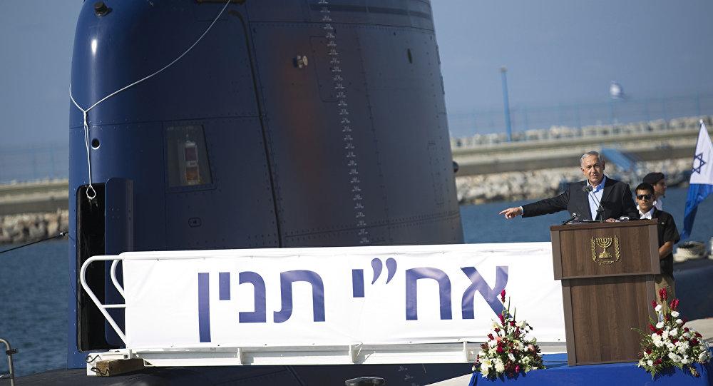Benjamín Netanyahu acude al acto de entrega del primer submarino Dolphin el 23 de septiembre de 2014