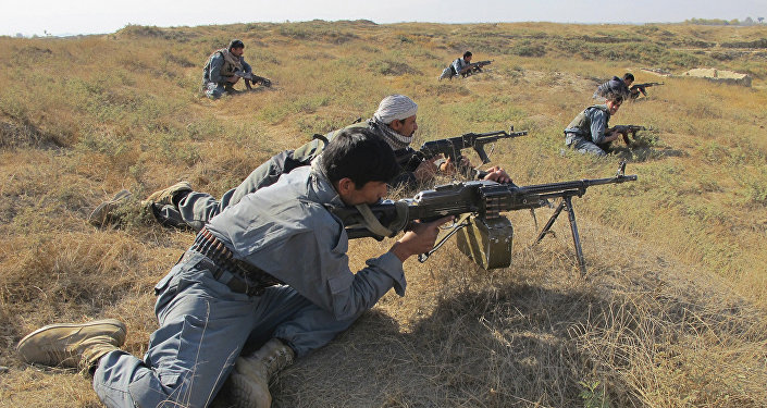 Soldados gubernamentales de Afganistán durante un operación contra el Talibán en la provincia de Kunduz