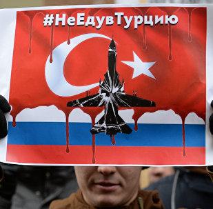 Protestas en Moscú tras el derribo del Su-24 ruso