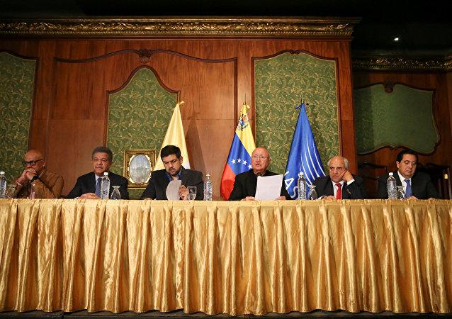 Diálogo entre el Gobierno de Venezuela y la oposición (archivo)